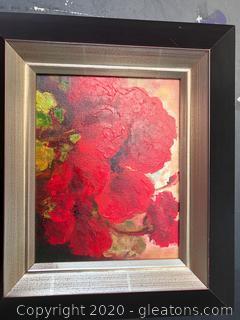 Poppy Wall Art in Oil Framed