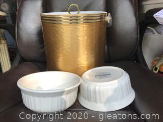 2 Ramekins & An Ice Bucket