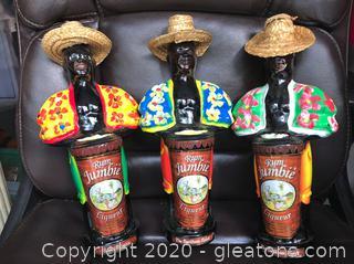 3 Rum Jumbie Liqueur Bottles