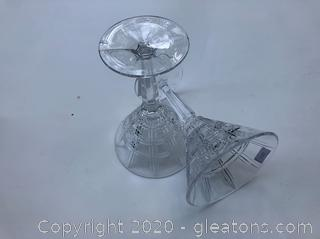 Pair of Waterford Martini Glasses