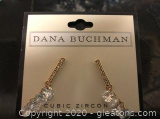 Dana Buchman Cubic Zirconia Drop Earrings
