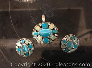3 Piece Pendant/Pierced Earring Set