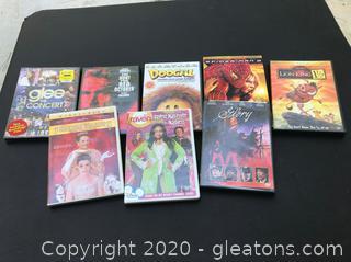 7 DVDs - Lion King, Spiderman, Glee & more