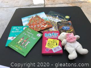 7 Varied Children's Books & Tooth Fairy Beanie