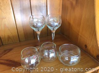 5 Pieces Crystal Ware