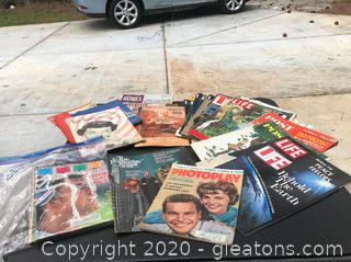 About 20 Vintage Magazines