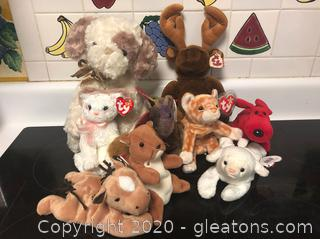 Beanie Baby Stuffed Animals in Great Condition