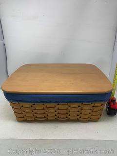 Longaberger Large Storage Solutions Basket with Lid