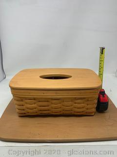 Longaberger Large Retined Tissue Basket