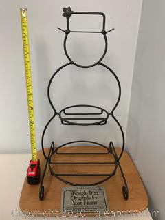 Longaberger Foundry Collection Small Wrought Iron Snowman