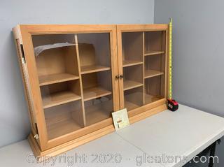 Longaberger Collectors Club Display Cabinet