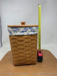 Longaberger Cottage Trellis Mini Waste Basket