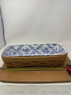 Longaberger Cottage Trellis Bread Basket