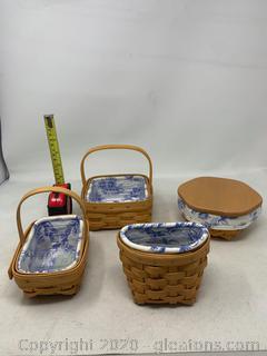 Longaberger Cottage Trellis Herb Baskets (Rare Reried)