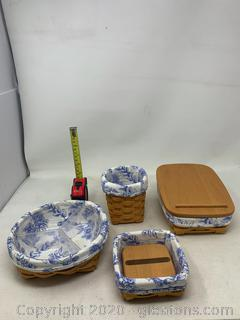 Longaberger Cottage Trellis Desk Set (Rare Retired)