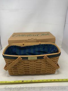 Longaberger Collectors Club Membership Basket