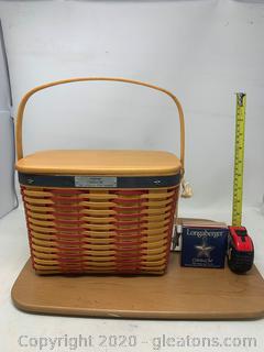 Longaberger 2001 Collectors Club Whistle Stop Basket