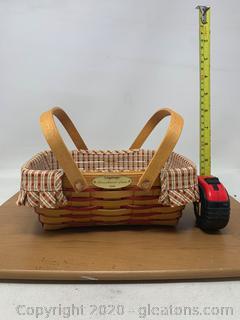 Longaberger Homestead Woven Memories Basket From 2000