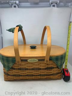 Longaberger Traditions Collection Generosity Picnic Basket