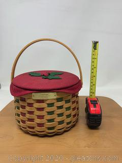 Longaberger Christmas Collection 2003 Edition Caroling Basket