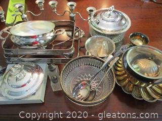 Silver and Silver Plate Lot