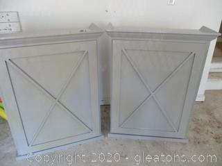 Pair of Farmhouse Cabinets