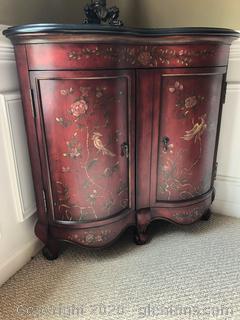 Asian Design Corner Cabinet Concave Design