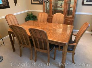 Drexel Heritage Passage Campaign Style Dining Table and Chairs
