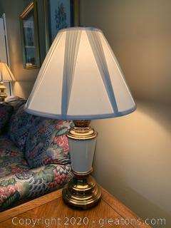 Brass and Porcelain Table Lamp