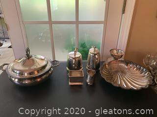 Collection of Silverplate Kitchen Items
