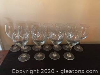 Collection of Red and White Wine Glasses