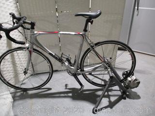 Giant Ocr 3 Formula One Bicycle with Cycle Ops Trainer
