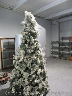 Flodced 8 Foot Christmas Tree