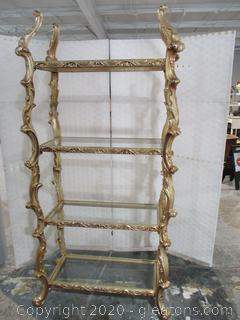 Ornate 4 Shelf Display Unit