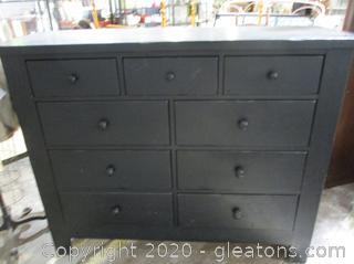 Large Black Dresser