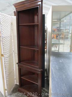 Vintage Corner Bookcase