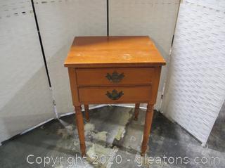 Vintage 2 Drawer Nightstand