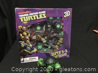Teenage mutant ninja turtle dart game and one vintage turtle