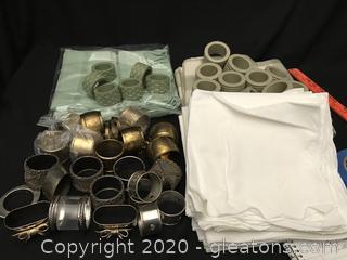 Napkins and napkin rings