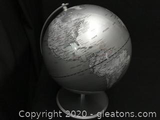 Beautiful silver globe