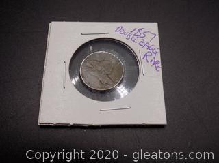 Rare 1857 Double Eagle Coin