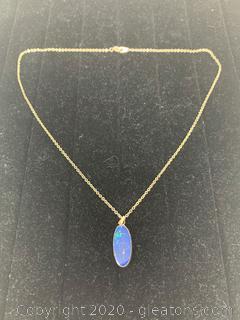 Vintage Handmade Sterling Lapis Lazuli Necklace