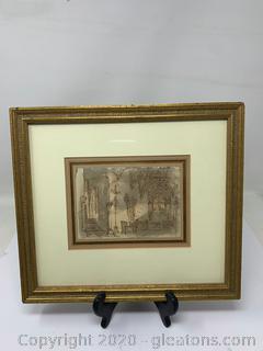 Original Baldassare Cavallotti Drawing/Sketch