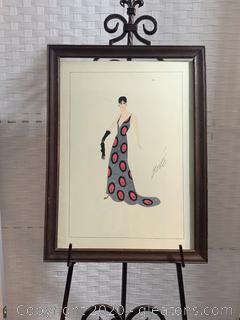 Framed Art by Erte AKA Romain de Tirtoff (B)