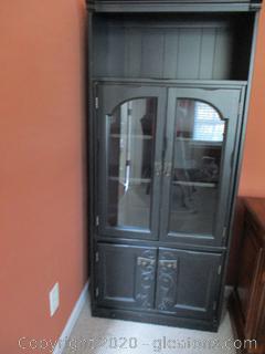 Black Farmhouse Style Cabinet