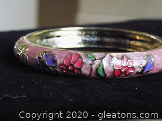 10k Gold Hand Painted Bangle