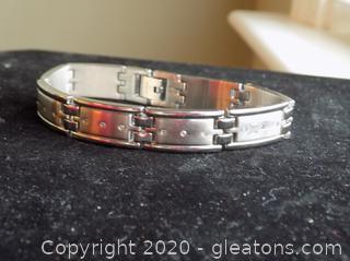 Stainless Steel Diamond Tennis Bracelet