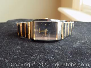 10k Gold and Stainless Steel Pulsar Watch