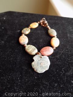 Pocasso Jasper & Roman Coin Bracelet