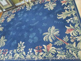 Area Rug Blue and Tan